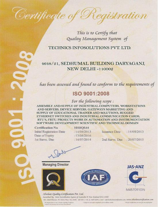 iso-tipl Certificate